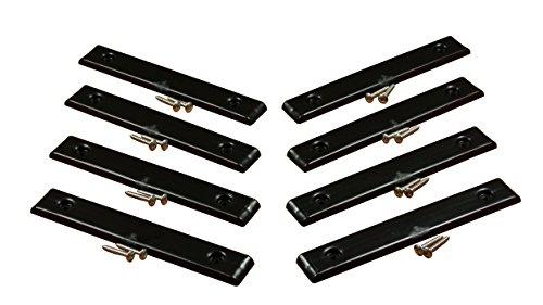 Ironwood Pacific E-Z Slide Trailer Pads | Kit 1 | Black ()