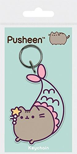 Pusheen Purrmaid - Llavero de goma, multicolor, 4,5 x 6 cm