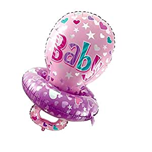 F Fityle Baby Girl Boy Chupete Forma Foil Globo para Baby ...