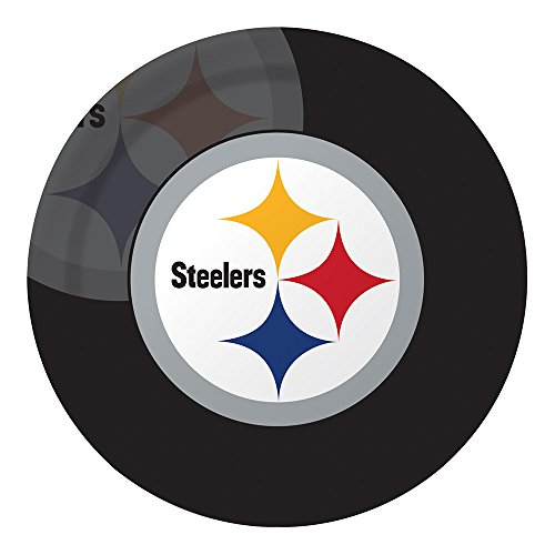 Creative Converting Officially Licensed NFL Dinner Paper Plates, 96-Count, Pittsburgh ()