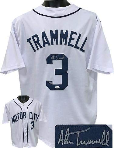 Alan Trammell Autographed Jersey - White TB Custom Stitched