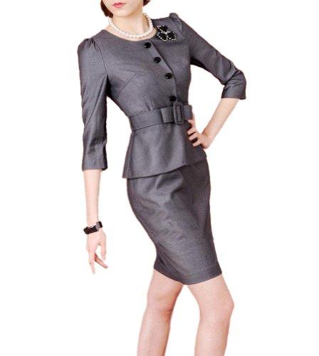 Buy belted peplum sheath dress - 7