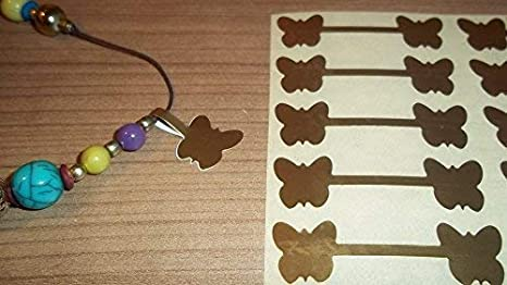 600 oro mariposa joyería etiquetas de Precio/Precio/plumón ...
