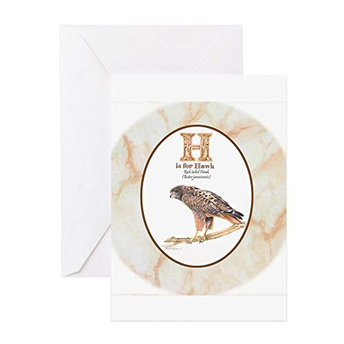 - CafePress Red Tailed Hawk Greeting Cards Greeting Card, Note Card, Birthday Card, Blank Inside Matte