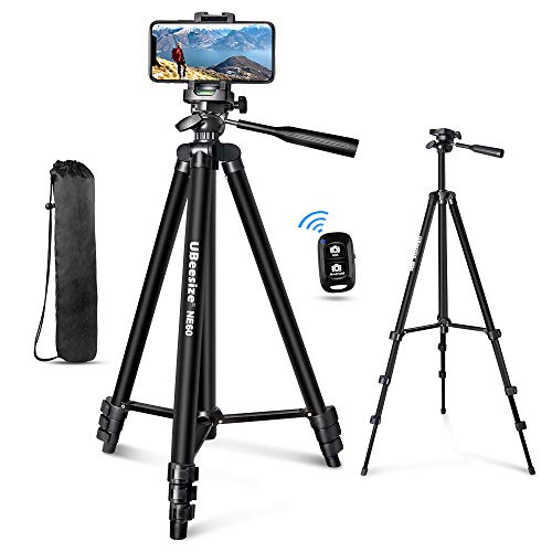 "🥇 UBeesize 60"" Phone Tripod with Carry Bag & Cell Phone Mount Holder for Live Streaming"