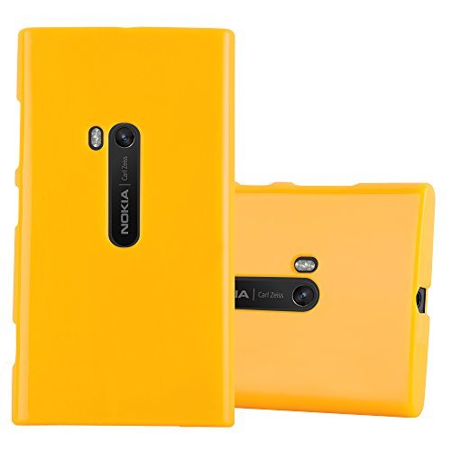 Cadorabo Case Works with Nokia Lumia 920 in Jelly Yellow - Shockproof and Scratch Resistant TPU Silicone Cover - Ultra Slim Protective Gel Shell Bumper Back Skin (Cover For Nokia Lumia 920)