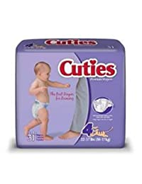 Cuties Tab Closure Size 4 Disposable Heavy Absorbency (#CR4001, Sold Per Case) BOBEBE Online Baby Store From New York to Miami and Los Angeles