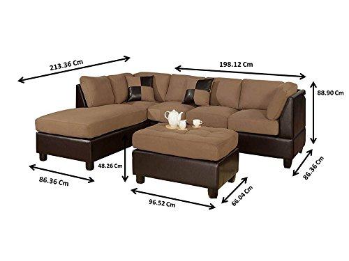 Bobkona Hungtinton Microfiber Faux Leather 3 Piece