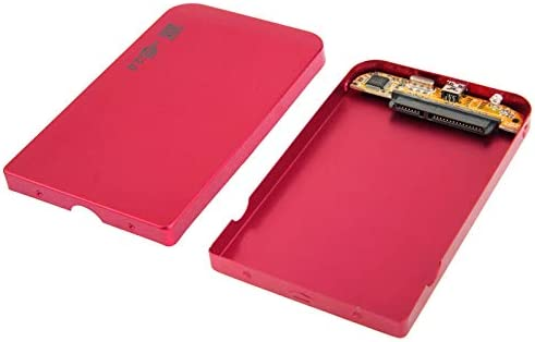 Color : Red 126mm x 75mm x 13mm Durable Size 2.5 inch SATA HDD External Case