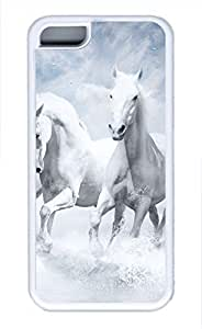 iPhone 5c case, Cute White Horses iPhone 5c Cover, iPhone 5c Cases, Soft Whtie iPhone 5c Covers