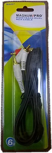 Rca Piggyback Stereo Cable - MAGNUM PRO MA427 Piggyback Dual RCA Cable 6ft