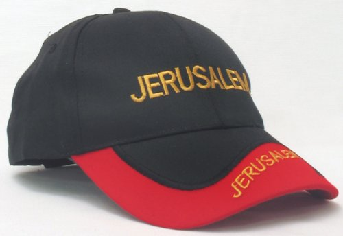 Black and Red Cap - Jerusalem