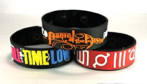 All Time Low And 30 Seconds To Mars And Panic! At The Disco Attsdi New 3Pcs(3X) Bracelet Wristband