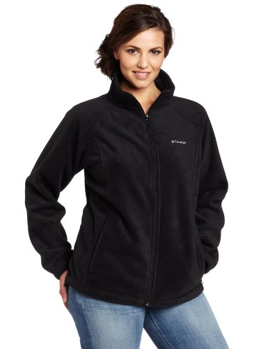 Columbia Women's Plus-Size Benton Springs Full Zip Plus, Black, 3X