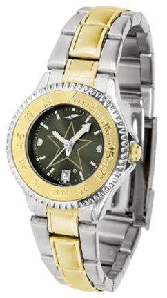 SunTime Vanderbilt Commodores Competitor AnoChrome Ladies Watch with Two-Tone Band
