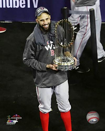 "David Price Boston Red Sox 2018 MLB World Series Trophy Photo (Size: 8"" x 10"")"