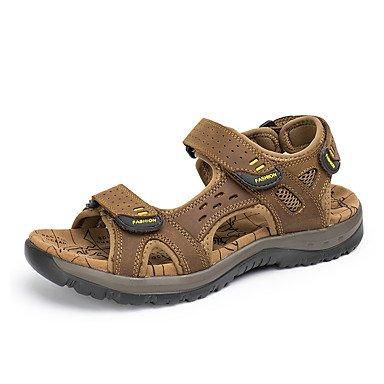 RTRY Sandalias Unisex Comfort Cowhide Primavera Verano Vestidos Zapatos Confort Exterior Anterior Marrón Claro 1A-1 3/4En Marrón Claro Us9.5 / Ue42 / Uk8.5 / Cn43 US9.5-10 / EU41 / UK7.5-8 / CN42
