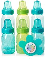 Evenflo Feeding Classic Tinted PP 4oz. and 8oz. 6 pack Gift Pack with Soother, 7 Count