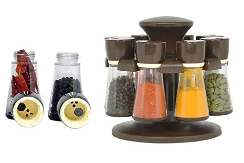 - Spice Rack Organizer, Spinning Countertop Herb and Spice Rack Organizer with 8 Bottles By Khandekar (With device of K)