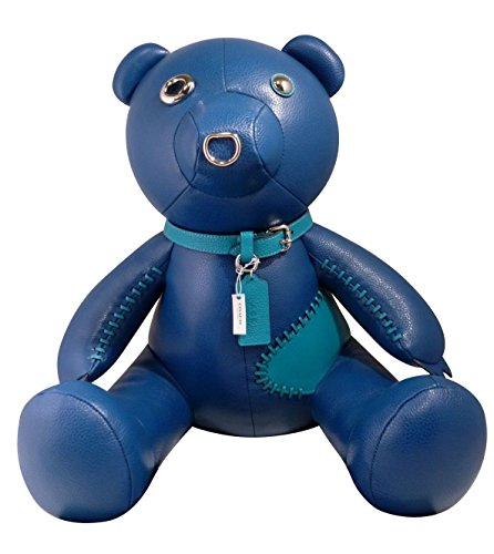 COACH Leather Teddy Bear STAR Collectible (Blue) - Type Coach