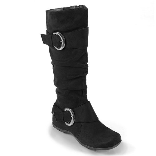c19bd182ff83 Journee Collection Black Jester Wide Calf Tall Boots - Women