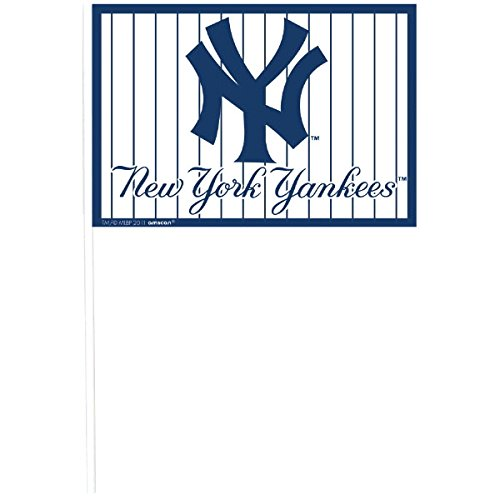 Amscan New York Yankees Major League Baseball Collection Plastic Flags, Party Decoration, 144 Ct.