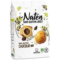 NATEN Mini Muffins Fourrés Chocolat 200 g - Pack de 6