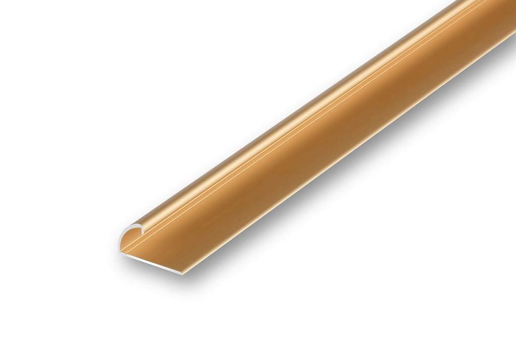 Teppich-Kantenschutz Profil Einklemmprofil Klemmprofil selbstklebend , bronze | selbstklebend 5,0/€//m 900 mm
