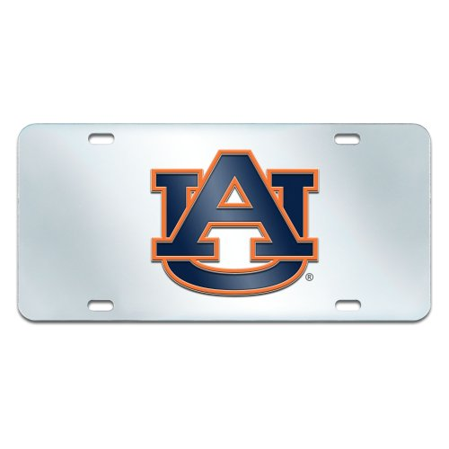 Fanmats NCAA Auburn University Tigers Plastic License Plate (Inlaid) by Fanmats