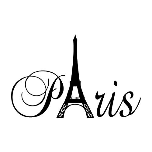 Lchen Paris Eiffel Tower Removable PVC Wall Sticker Home Kids Room Decor Art Decal(12.6