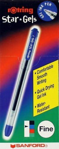 10 x Rotring STAR GELS Gel Ballpoint Pens RED Extra Fine