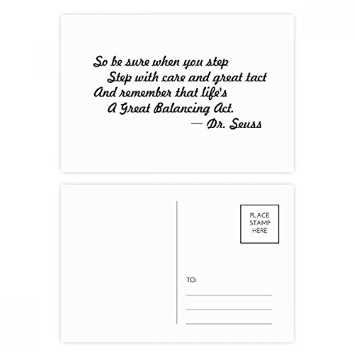(Care And Tact Give You Balance Life Quotes Postcard Set Birthday Thanks Card Mailing Side 20pcs)