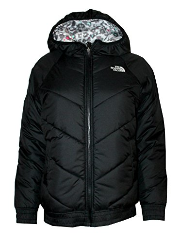 THE NORTH FACE Youth Girls Nika Reversible Insulated Jacket THFBLACK/Print (L 14/16) by The North Face