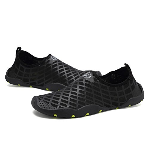 CIOR Quick-Dry Water Sports Shoes with Drainage Holes Men Women Kid's Multifunctional for Swim Walking Yoga Lake Beach Garden Park Driving Boating,SYY05,lg.black,42 3