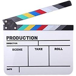 YOIOY Acrylic Colorful TV Play Film Movie Shooting Clapper Board Slate