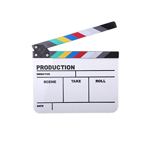 YOIOY Acrylic Colorful TV Play Film Movie Shooting Clapper Board Slate