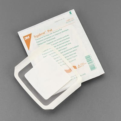 3M Tegaderm +Pad Transparent Dressing with Absorbent Pad - 3.5