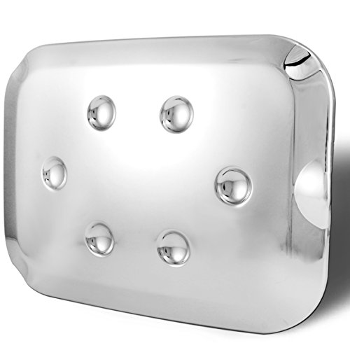 AutoModZone Chrome ABS Fuel Tank Gas Door Cap Cover for 11-16 Ford F-250 SuperDuty / F-350 SuperDuty