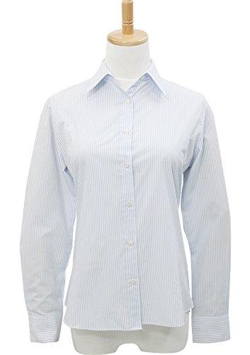 LEONIS Mujer de fácil cuidado popelín camiseta de manga larga Stripe Beige