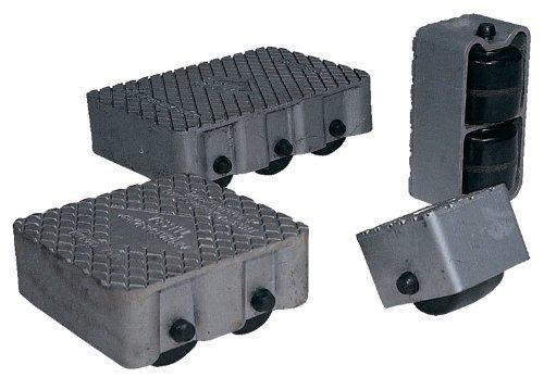 Vestil VPRDO-2 Cast Aluminum Propel Dolly, 3000 lbs Capacity, 8-1/2'' Length x 4-3/4'' Width Deck, 4-1/4'' Overall Height by Vestil (Image #1)