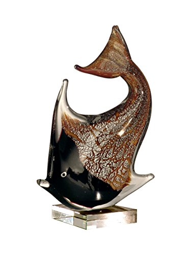 Springdale Angel Fish Hand Blown Art Glass - Fish Angel Glass Art