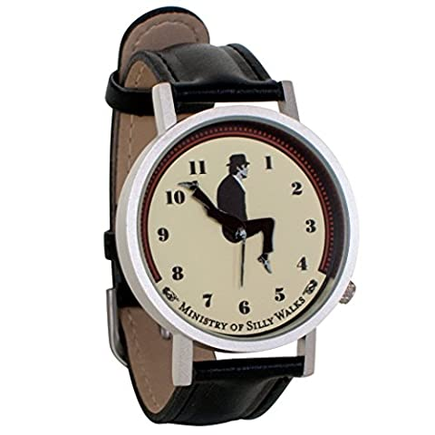 Monty Python Ministry of Silly Walks Sketch Unisex Analog Watch (Vegan Leather Watch Man)