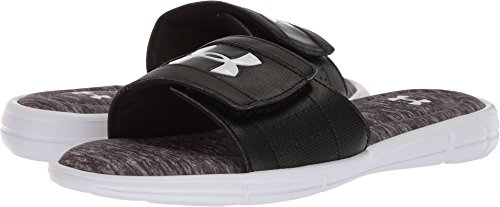 Under Armour Men's Ignite CC Heather V Slide, White (100)/Zinc Gray, 10