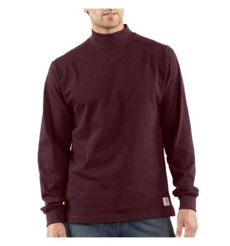 Carhartt Mock Turtleneck T-Shirt, Port, XXX-Large Tall by Carhartt