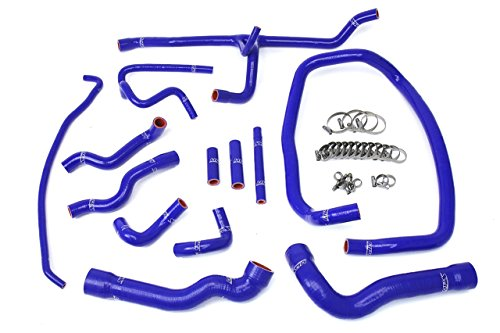 Heater E36 Hose (96-99 BMW E36 M3 Left Hand Drive HPS Blue Reinforced Silicone Radiator and Heater Hose Kit Coolant)