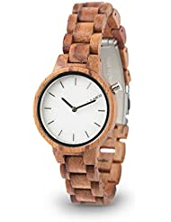 LAiMER Womens Wooden Watch MARMO ROSE - Wrist Watch made of natural Rose Wood and a dial consisting of South...
