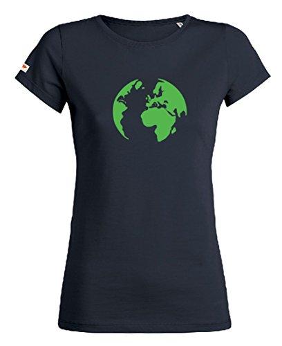 OVIVO-Inspired by Nature - Camiseta Tierra 100% algodón orgánico - Azul noche - Mujer