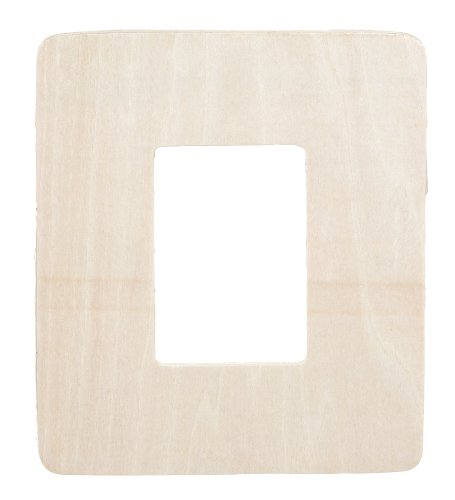 Darice 9171-94 Unfinished Wood Rectangle Picture Frame Cutout Shape