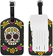 Sugar Skull Luggage Tags,Bag Tags Travel ID Labels For Baggage Suitcases