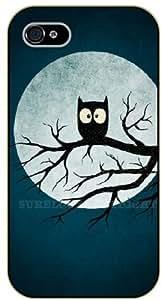 iPhone 5C Insomnia owl, moon - black plastic case / Animals and Nature, owl, owls